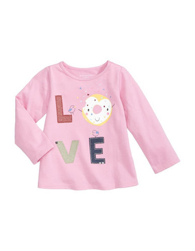 First Impressions Love Cotton Tee-PINK-3-6 Months