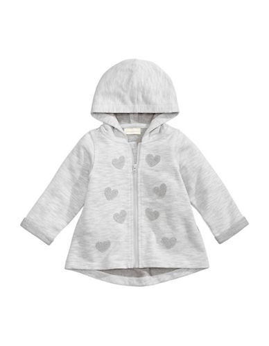 First Impressions Hearts Hoodie-GREY-18 Months