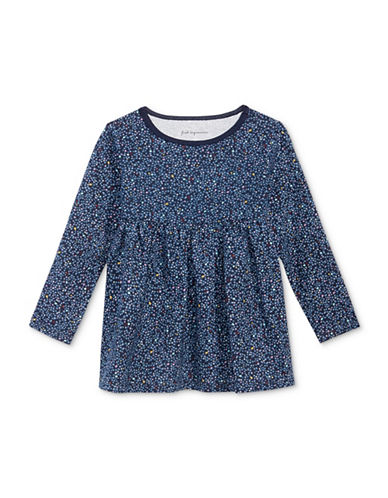 First Impressions Confetti Print Tunic-BLUE-6-9 Months