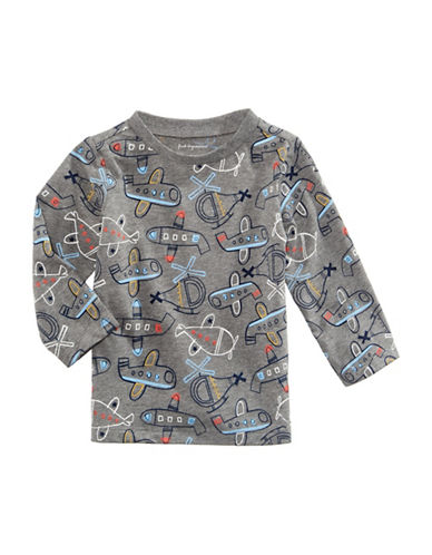 First Impressions Airplane-Print T-Shirt-GREY-12 Months