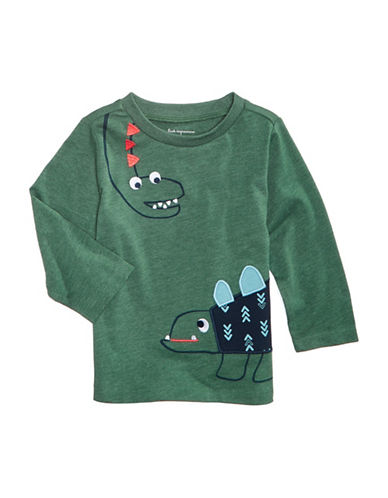 First Impressions Dinosaur-Print T-Shirt-GREEN-3-6 Months