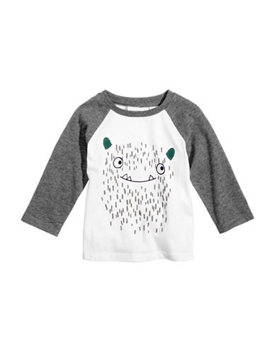 First Impressions Monster-Print T-Shirt-WHITE-3-6 Months