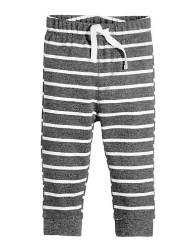 First Impressions Striped Knit Jogger Pants-GREY-18 Months