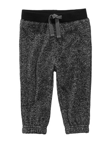 First Impressions Marbled Knit Jogger Pants-BLACK-18 Months