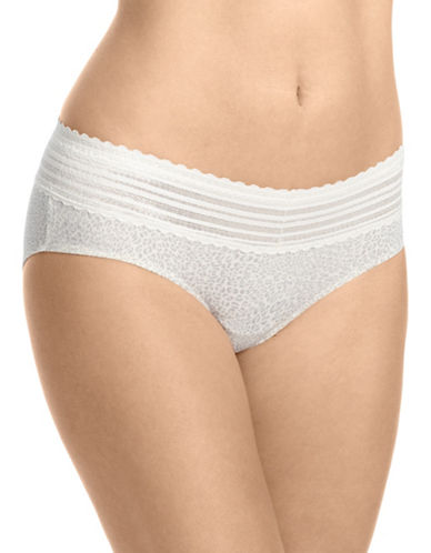 WarnerS No Pinch Lace Hipster Panty-COOL ANIMAL-Large