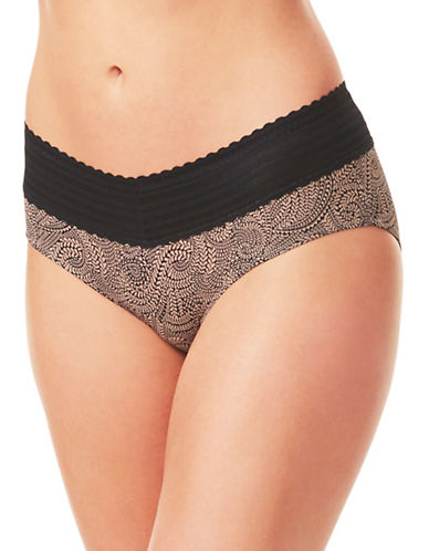 WarnerS No Pinch Lace Hipster Panty-BEIGE-X-Large