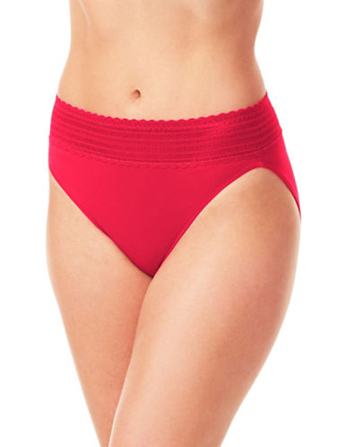WarnerS No Pinch Lace Hipster Panty-CLASS RED-X-Large
