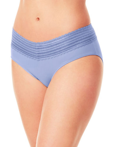 WarnerS No Pinch Lace Hipster Panty-LAVENDER-X-Large