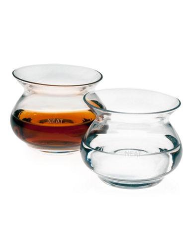 Neat Set of Two Neat Spirit Glasses-CLEAR-One Size
