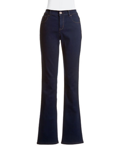 Style And Co. Tummy Control Boot Cut Jeans-NAVY-8