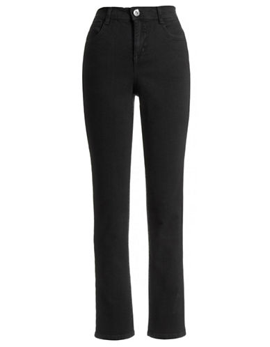 Style And Co. Tummy Control Slim Leg Jeans-BLACK-4