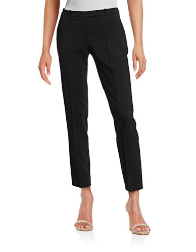 Hugo Harile Stretch-Wool Pants-BLACK-EUR 40/US 8