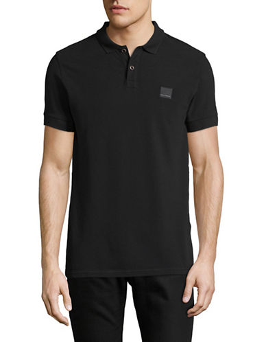 Boss Orange Pascha Slim-Fit Polo Shirt-BLACK-Medium