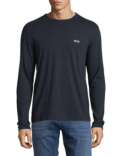 Boss Green Togn Regular-Fit Long Sleeve Logo Tee-NAVY-Large