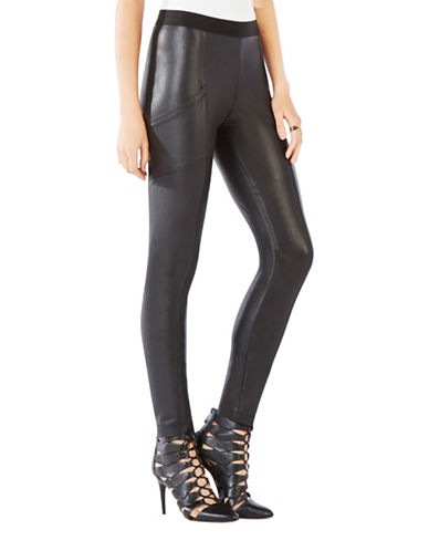 Bcbg Maxazria Andrei Faux Leather Leggings-BLACK-Large