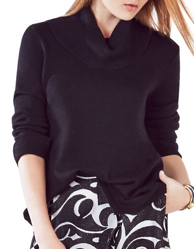 Bcbg Maxazria Waris Turtleneck Sweater-BLACK-Medium