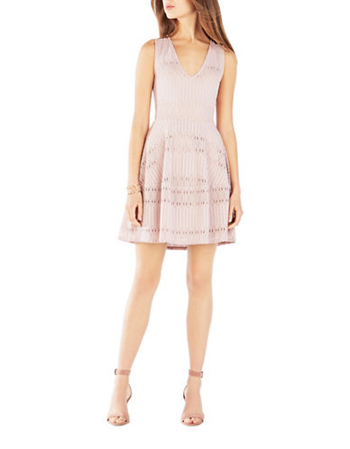 Bcbg Maxazria Amberly Sleeveless Lace Dress-PINK-Large