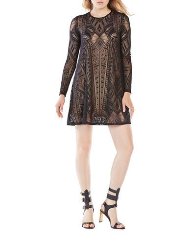 Bcbg Maxazria Natyly Lace Sheath Dress-BLACK-Medium