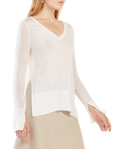 Bcbgmaxazria Damitra High-Low Sweater-WHITE-X-Small 88458723_WHITE_X-Small