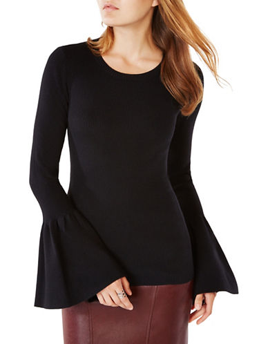 Bcbg Maxazria Waverley Flared-Sleeve Sweater-BLACK-Large