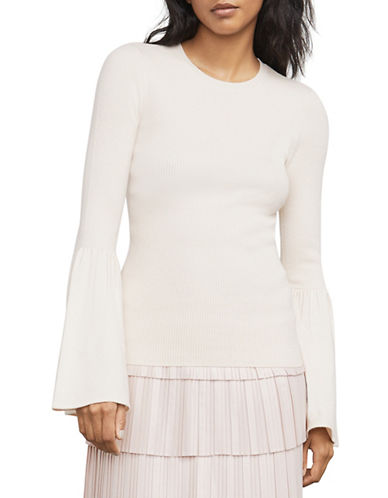 Bcbg Maxazria Waverley Flared-Sleeve Sweater-WHITE-XX-Small