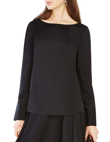 Bcbgmaxazria Ceanna Cowl-Back Top-BLACK-Medium 88673660_BLACK_Medium