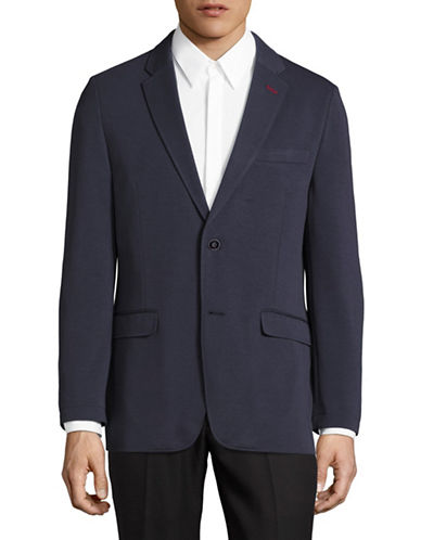Tommy Hilfiger Melange Single-Breasted Sports Jacket-BLUE-44 Short