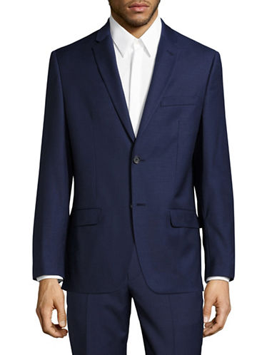 Tommy Hilfiger Trim Fit Stretch Performance Suit Jacket-BLUE-48 Regular