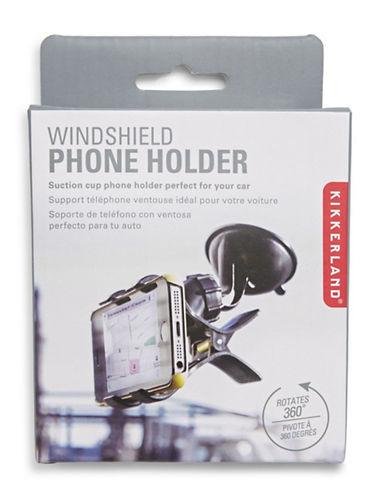 Kikkerland Windshield Phone Holder-BLACK-One Size