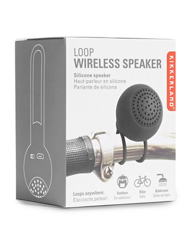 Kikkerland Loop Wireless Speaker-BLACK-One Size
