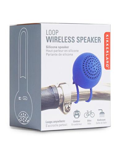 Kikkerland Loop Wireless Speaker-BLUE-One Size