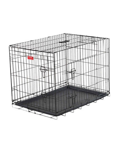 Jewett Cameron Lucky Dog XX-Large Two-Door Training Crate-BLACK-One Size