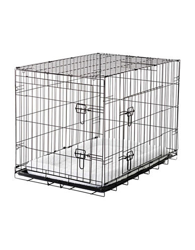 Jewett Cameron Lucky Dog Small Training Crate-BLACK-One Size
