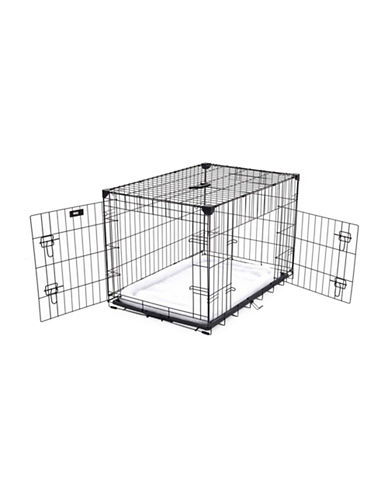 Jewett Cameron Lucky Dog Large Training Crate-BLACK-One Size