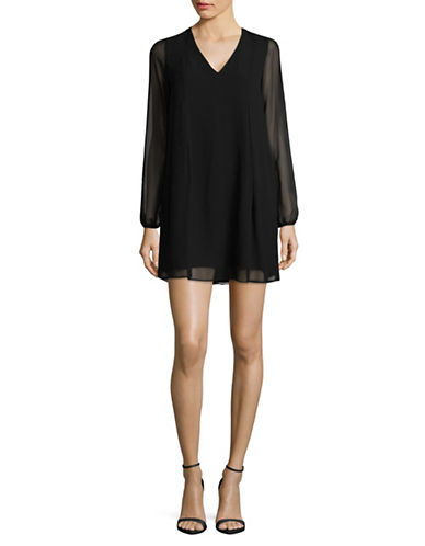 Bcbgeneration Bishop Sleeve Dress-BLACK-Medium