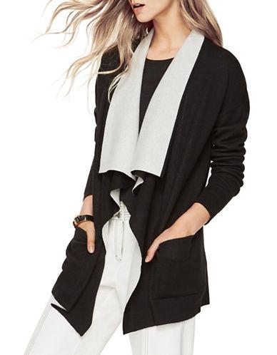 Bcbg Maxazria Cyra Open-Front Merino Wool Cardigan-BLACK-Large