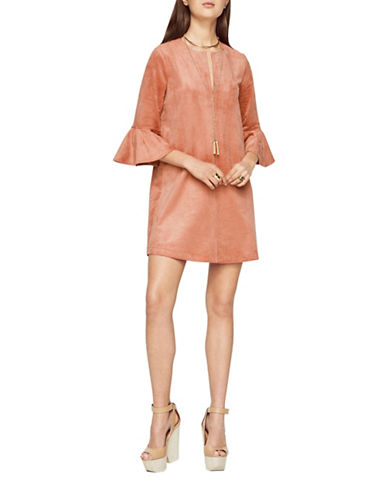 Bcbg Maxazria Catier Faux-Suede Dress-PINK-Medium