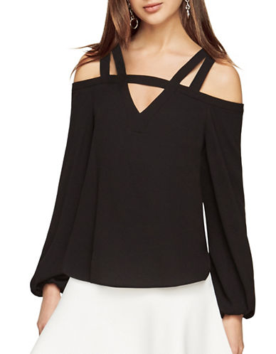 Bcbg Maxazria Tina Cold-Shoulder Top-BLACK-Medium