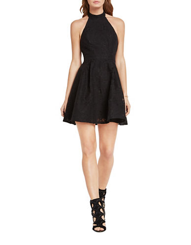 Bcbgeneration Lace Halter Fit-And-Flare Dress-BLACK-4