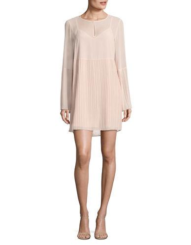 Bcbgeneration Pleated Long-Sleeve Shift Dress-ROSE SMOKE-Medium
