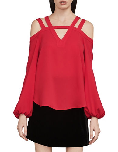 Bcbg Maxazria Tina Cold Shoulder Top-RED-X-Small