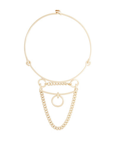 Bcbg Maxazria Goldtone Loop Chain Necklace-GOLD-One Size