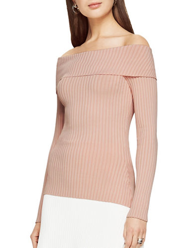 Bcbg Maxazria Risa Off-the-Shoulder Sweater-RED-Large