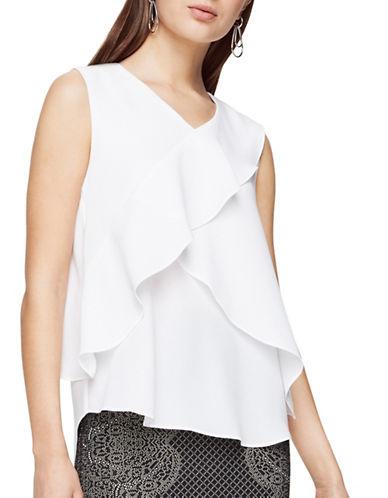Bcbgmaxazria Sherrie Ruffled Top-WHITE-Medium 88959947_WHITE_Medium