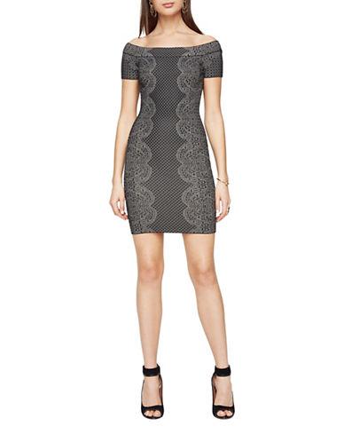 Bcbg Maxazria Kisha Off-the-Shoulder Dress-BLACK-X-Small