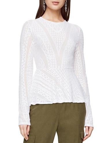 Bcbgmaxazria Darcey Peplum Top-WHITE-Large 88959980_WHITE_Large