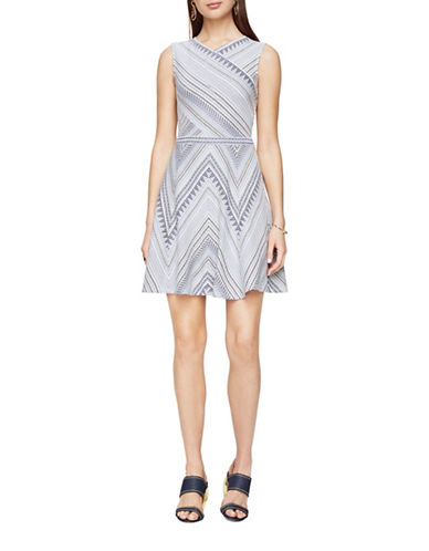 Bcbg Maxazria Jasmine Striped Dress-PURPLE-X-Small