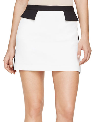 Bcbg Maxazria Kaela Tuxedo Mini Skirt-NATURAL-Large