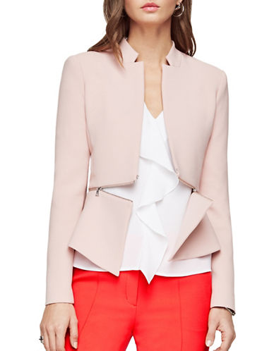 Bcbg Maxazria Barrett Peplum Jacket-PINK-Medium