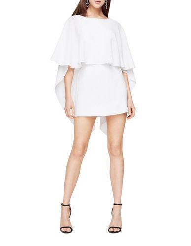 Bcbg Maxazria Jamey Cape Dress-WHITE-0